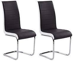 GIZZA DINING CHAIRS <b>MODERN ARTIFICIAL LEATHER</b> BLACK ...