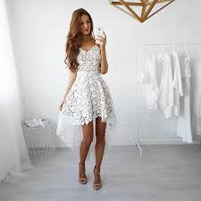 Sexy Deep <b>V</b>-<b>Neck Spaghetti Strap</b> Backless Lace Dress | offtobuy ...