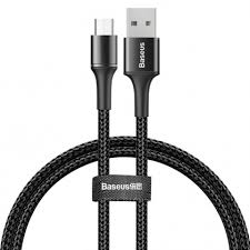 Кабель <b>Baseus Halo</b> Data Cable <b>USB</b> - Micro <b>USB</b> 3A 1м черный ...