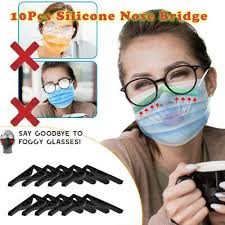 10pcs Silicone <b>Anti</b>-<b>fog Nose</b> Bridge <b>Strips</b> Clip for <b>Face</b> Mask Craft ...