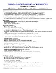resume  examples of qualifications for a resume  corezume co    examples resume summary of resume summary of qualifications smlf