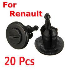 20Pcs Bumper Fastener Trim Clip Rivets <b>For Renault Clio Laguna</b> ...