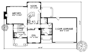 Colonial Style House Plans   Plan   Main Floor Plan