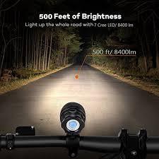 HZTech <b>Bicycle Headlight</b>, 8400 Lumens 7 LED <b>Bike Light</b> ...