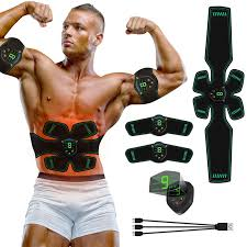 EMS <b>Muscle Stimulator</b> with LCD Display USB <b>Rechargeable</b> ...