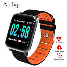 Ataliqi <b>A6 Smart</b> Wristband <b>Watch Heart</b> Rate Monitor Blood ...