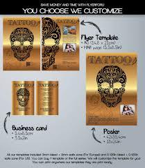 gold tattoo shop flyer template com gold tattoo shop flyer template