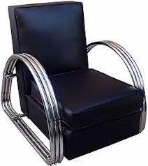 there are many fine original antiques and reissues of deco furniture on the market with the right accessories a thirties style leather club chair art deco furniture style art