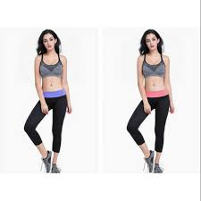 READY STOCK   Women 3/4 Capri Yoga Pants Zumba Dance Sport ...