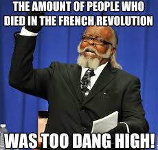The amount of people who died in the french revolution was too ... via Relatably.com