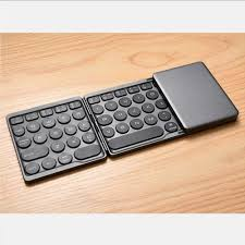 EMGOD <b>Portable Ultra</b>-<b>Thin</b> Keyboard Foldable <b>Wireless Bluetooth</b> ...