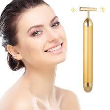 <b>Beauty Bar 24k Golden</b> Pulse Facial Face Massager, Electric T ...