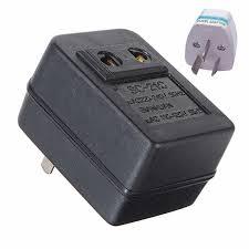 eu plug adapter 200w ac 220v to 110v step down transformer convert travel power