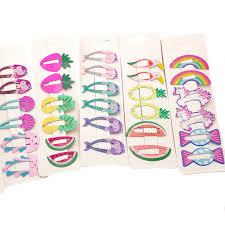 <b>NEW</b> Kids Hair Accessories <b>Headwear</b> 2 <b>6Pcs</b>/<b>Set</b> Flamingo ...