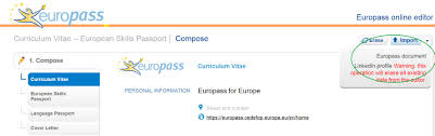 your linkedin profile into your europass cv here your linkedin profile into your europass cv here