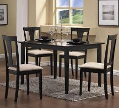 black and white dining table set: dining room black wooden color armless chairs and white color beautiful black dining room chairs