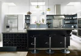 decoration awesome modern kitchen island bar stools with wine rack built into island also hand blown awesome modern kitchen lighting