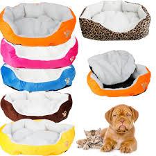 Pet <b>Dog Bed Cushion</b> Cat Soft Warm Fleece House Mat Kennel ...