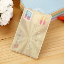 1Pc <b>Waterproof PVC Card</b> Holder Credit Student Transparent ID ...