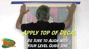 How to Apply Large <b>Wall Decals</b> - YouTube