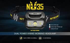 <b>Nitecore NU35</b> 460 Lumens <b>Dual Power</b> Source - Max Beam Australia