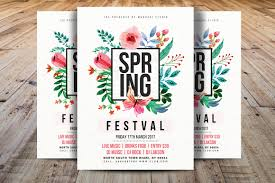holiday flyer spring festival flyer template spring break flyer template spring invittation template ms word photoshop instant