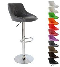 WOLTU <b>Bar Stool Faux</b> Leather Kitchen Stool Barstool Grey Seat ...