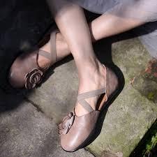 <b>Artmu Original Vintage</b> Handmade Flowers ClosedToe Sandals ...
