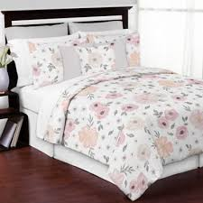 Sweet Jojo Designs® <b>3</b>-<b>Piece Watercolor</b> Floral King Comforter Set ...