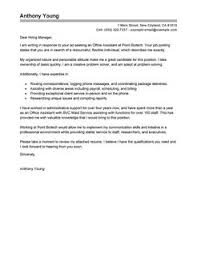 best office assistant cover letter examples   livecareeroffice assistant cover letterstandard design