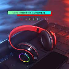 <b>Led Wireless</b> Headset Bluetooth 5.0 Stereo <b>OverEar Foldable</b> ...
