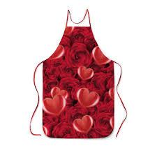 Заказать фартук с <b>полной</b> запечаткой Сердечки и розы ...