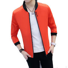 <b>2018 New Spring</b> Autumn <b>Casual</b> Solid Fashion Slim Men Bomber ...