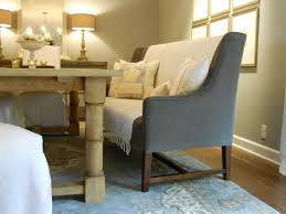 grey banquette furniture with storage