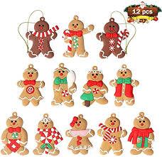 Amazon.com: <b>12pcs</b> Gingerbread Man <b>Ornaments</b> for <b>Christmas</b> ...