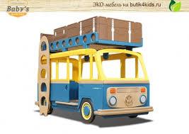 <b>ЭКО кровать</b>-<b>машина</b> для двоих детей Camper Two Baby's ...