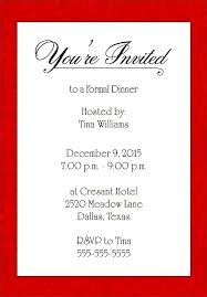 dinner invitation sample girl middot formal invitations template formal invitation template