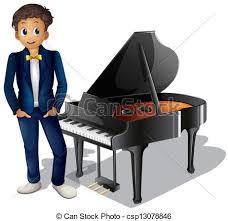 Resultado de imagen de dibujos de pianistas