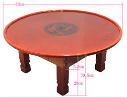 korean coffee table folding leg round 60cm asian cheap asian furniture