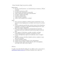 resume scheduler planner resume examplessamples production on gallery of planner scheduler job description