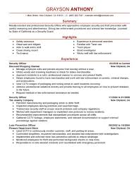 best security officers resume example livecareer create my resume