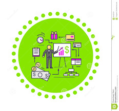 financial analysis report concept of financial analysis icon flat stock vector image dreamstime com concept of financial analysis icon