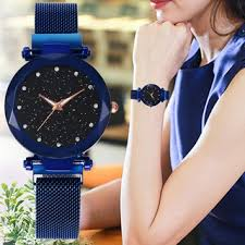 Ready Stock Women <b>Starry</b> Star <b>Watch Diamond</b> Steel Belt Female ...