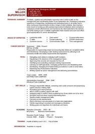 a one page supervisors resume example that clearly lists the team leading and leadership skills of how to write a cv or resume