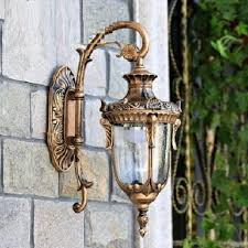vintage led wall lamp outdoor wall sconce lighting waterproof garden wall light fixtures aluminum glass antique antique courtyard outdoor lighting 1