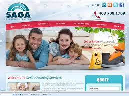 cleaning company website designing portfolio saga cleaning services