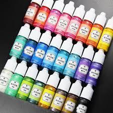 2019 <b>SNASAN</b> 10ml Liquid Pearl Pigment Dye For UV Resin Epoxy ...