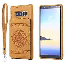 Galaxy Note 8 Case,DAMONDY <b>Luxury Flower Sunflower Wallet</b> ...