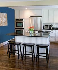 Black And White Kitchen Table White And Blue Kitchen Ideas With Brown Floor Kitchen