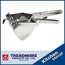 <b>Kitchen Manual</b> Masher <b>Cooking Tool</b> Stainless Steel Potato Ricer ...